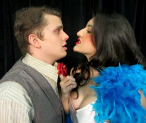 David Ray and Gemma Garcia in UNT's Reefer Madness.