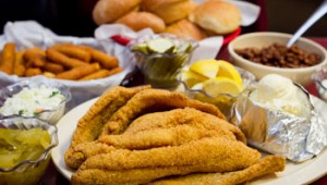 Catfish Sam's does catfish right — along with hush puppies and fried pickles. Tony Robles