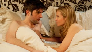 Adam Scott and Jennifer Westfeldt get down to making babies in Friends With Kids.