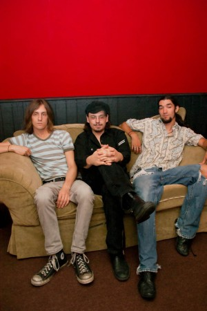 (From left to right) drummer Matt Mabe, frontman Danno Mabe, and bassist Anthony Sosa are totally in sync as Jefferson Colby.