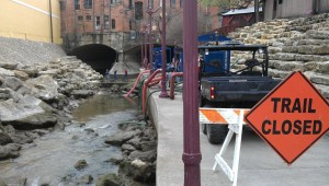 Tarrant Regional Water District crews redirected the flow in Marine Creek to allow for an extensive cleanup. Drago Reid