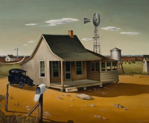 "Charles Bowling's 1936 painting ""Texas Landscape"" is emblematic of the kind of early Texas art to be celebrated this weekend by CASETA at Texas Wesleyan."