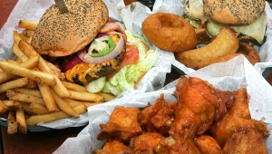 The headlining Bronson Burger, the Yard Bird, and some rings and wings are the stars at Bronson Rock. Lee Chastain
