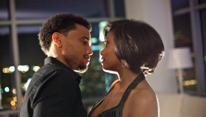 "Michael Ealy and Taraji P. Henson try to figure out the rules of dating in ""Think Like a Man."""