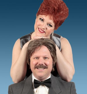 Jenny Thurman and Todd Hart star as the formerly married singing duo Pete 'n' Keely in Theatre Arlington's current production.