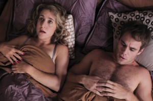 It's still a gay film festival: Jean Harris and Matthew Wilkas in Gayby at Q Cinema.