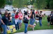 About 40 animal lovers and activists attended an April 28 rally against dog fighting. Brian Hutson