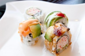 An assortment of scrumptious rolls awaits you at Ninja's sushi buffet. Chase Martinez