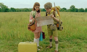 Kara Hayward and Jared Gilman find their way through the wilderness to Moonrise Kingdom.