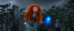 Merida encounters a will-o'-the-wisp that leads her to her fate in Brave.