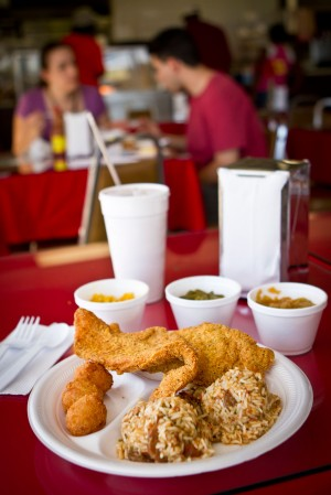 Fried fish and jambalaya are staples at Damian's. Jesus A. Robles