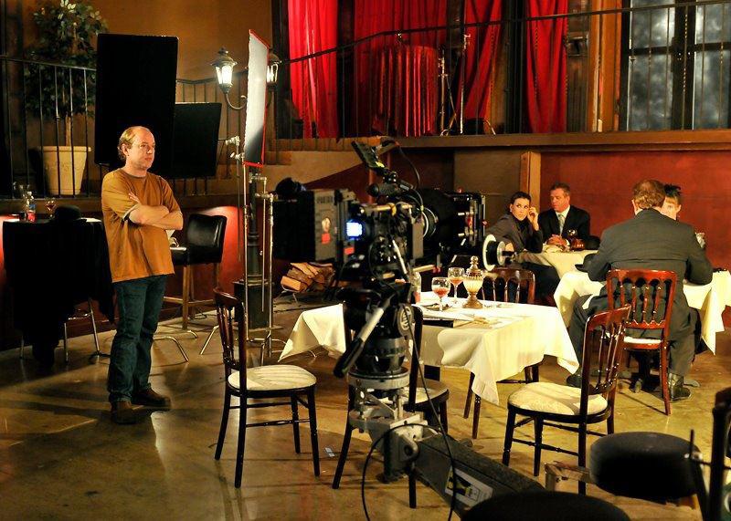 Jon Keeyes on the set of Phobia.