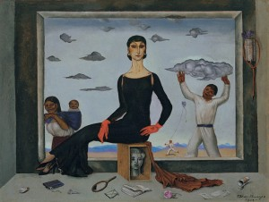 Roberto Montenegro. The First Lady, 1942. Oil on cardboard.
