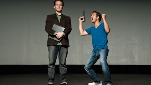 Chuck Huber (left) and Carman Lacivita star in Amphibian Productions' crisp production of The Understudy.