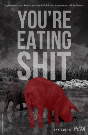PETA'S NEW VEGAN AD DESIGNED BY TEXAS TECH UNIVERSITY STUDENTS AND SLATED FOR A FALL RELEASE. (photo courtesy of PETA)