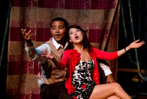 Martin Clark and Meng-Jung Tsai in The Threepenny Opera.