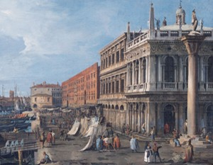 "Canaletto's ""The Molo,"" shown in Venice: Canaletto and His Rivals."