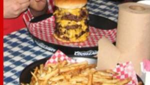 Chubby's challenge burger. Courtesy Chubby's Facebook