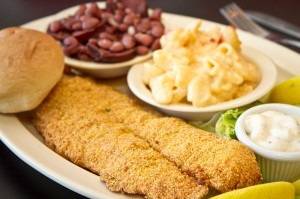 Toni's fried catfish is heaven on a plate. Tony Robles