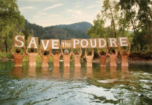 In Colorado, activists bared it all to express support for their beloved river, which they believe is threatened in part by gas drillers' need for water. Photo Courtesy New Belgium Brewing