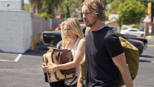 "Kristen Bell and Dax Shepard take in the latest speed bump on their trip to L.A. in ""Hit & Run."""