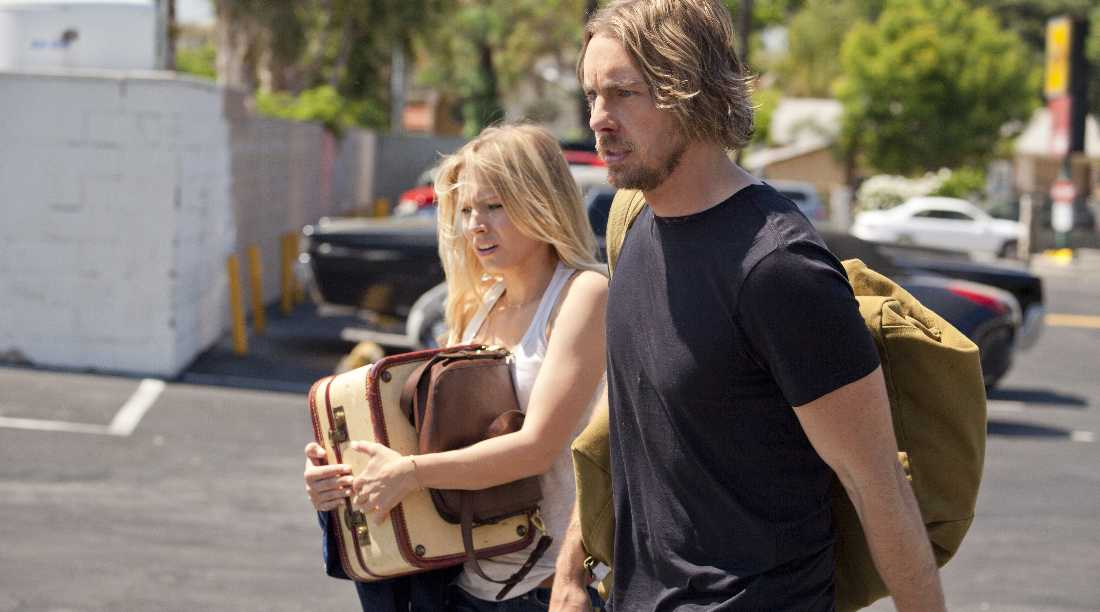 Kristen Bell and Dax Shepard take in the latest speed bump on their trip to L.A. in