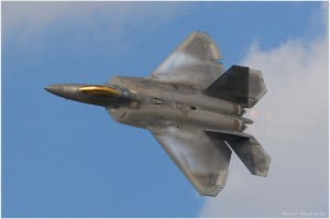 An F-22 in flight. COURTESY OF ROB SHENK.