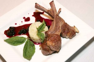 The Australian lamb chops with risotto and blueberry chutney are popular at The Wild Mushroom. Lee Chastain