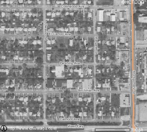 1997 (above) and  2005 (below). Aerial photos show how much the church campus has grown. Courtesy North Central Texas Council of Governments