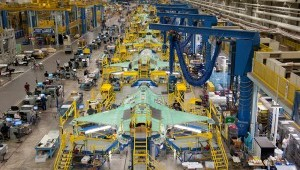 Construction of the F-35 in Lockheed's Fort Worth plant. Courtesy of Lockheed Martin.