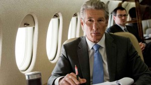 Richard Gere thinks hard about evading criminal charges in Arbitrage.