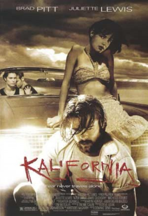 BRAD PITT PORTRAYED SERIAL KILLER EARLY GRACE IN KALIFORNIA.