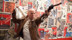 "Bruce Willis strikes a familiar pose in ""Looper."""