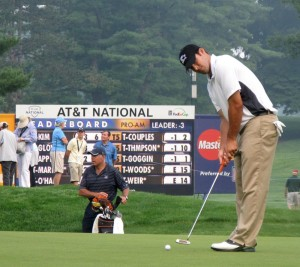 TONY ROMO SANK THE EQUIVALENT OF A 90-FOOT PUTT AGAINST THE NEW YORK GIANTS LAST NIGHT. (photo by Keith Allison)