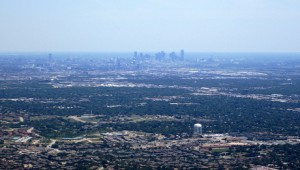 An aerial shot of the Metroplex during the drought. COURTESY OF LA CITTA VITA.