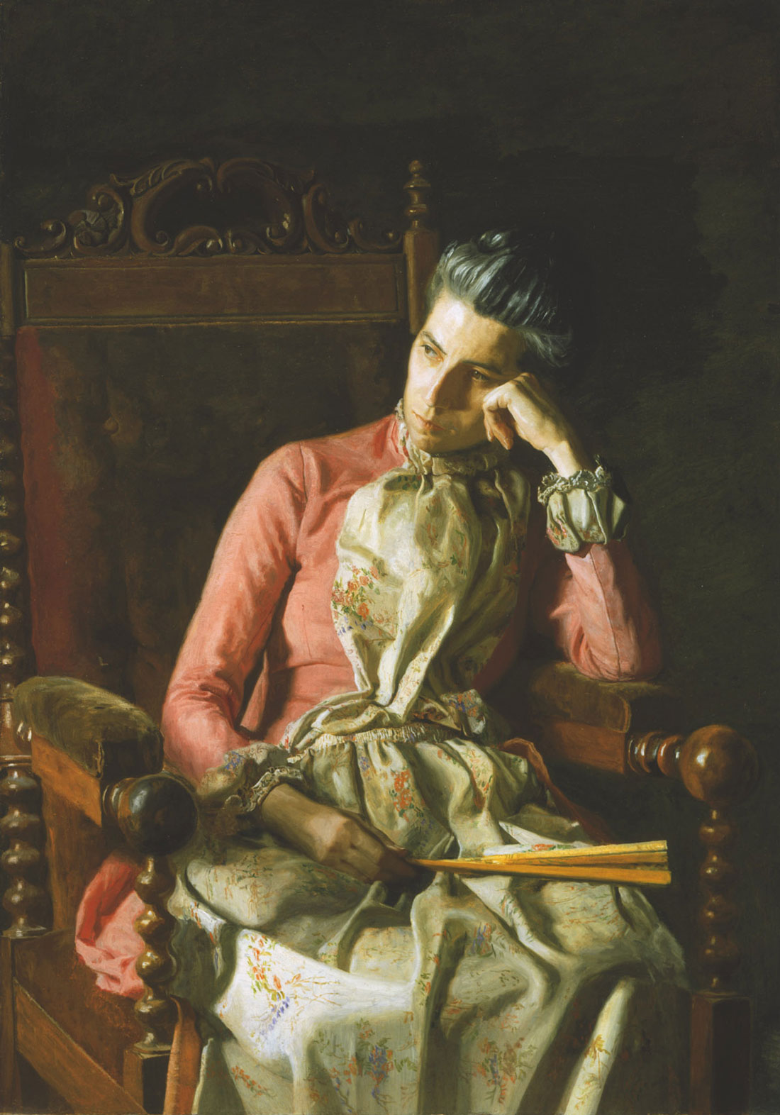 "Thomas Eakins' ""Miss Amelia Van Buren"" at Amon Carter. ca. 1891, oil on canvas, The Phillips Collection"