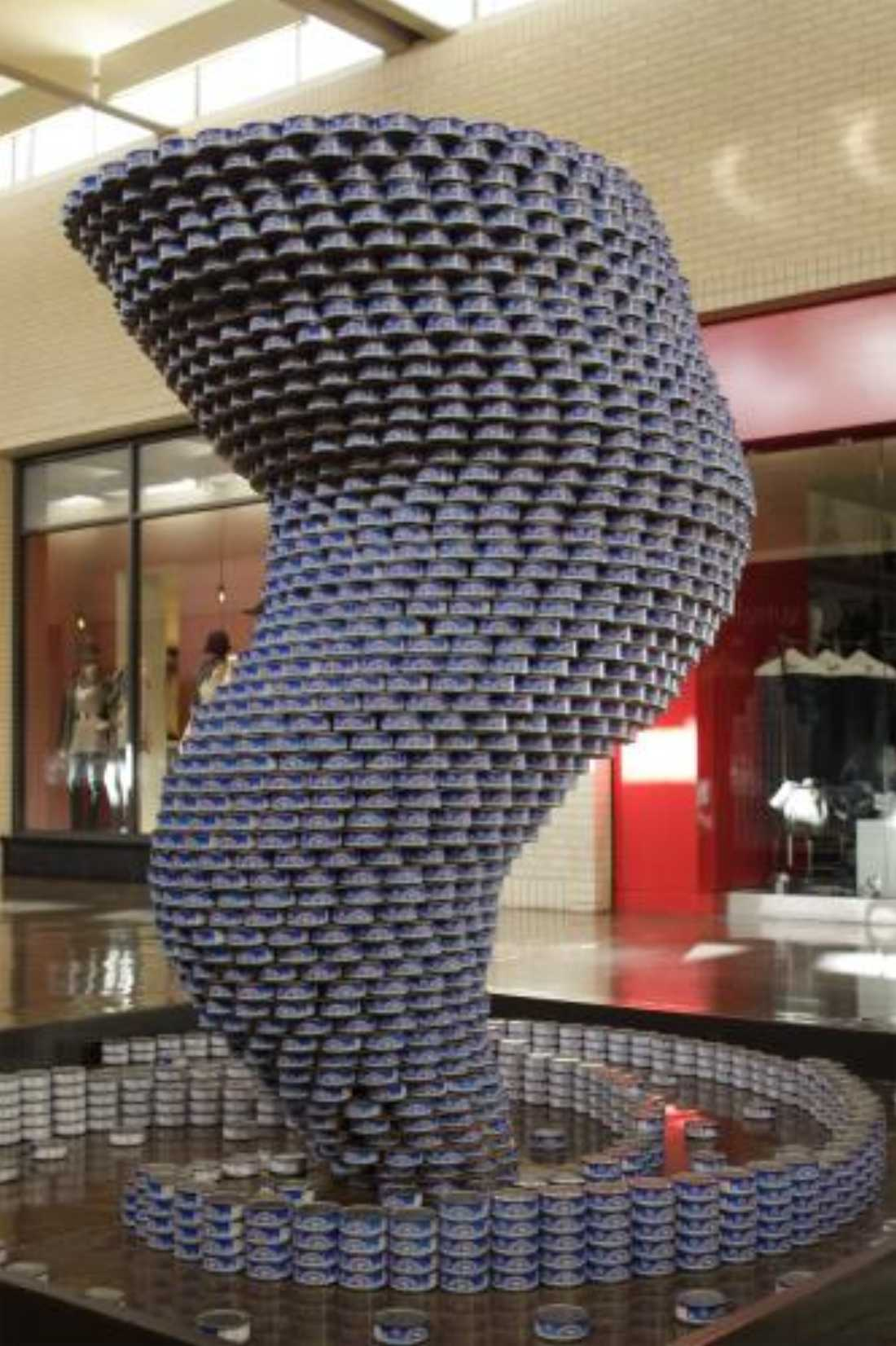 Head to North East Mall and check out the can art at CANstruction.