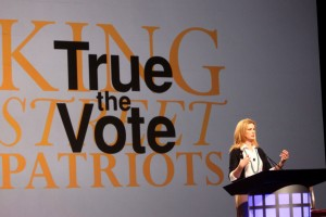True the Vote president Catherine Engelbrecht speaks at the group's national summit in Arizona in February. Courtesy Gage Skidmore