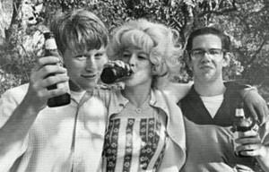 Candy Clark with Graffiti co-stars Ron Howard (left) and Charles Martin Smith. Courtesy Candy Clark