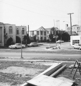 The related apartments on the Montgomery side declined visibly in their third decade.  Courtesy David Pearson