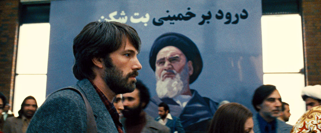 Ben Affleck makes his way through Khomeini's Iran in Argo.