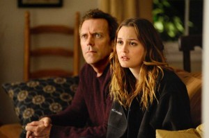 Leighton Meester and Hugh Laurie star in The Oranges playing exclusively in Dallas.