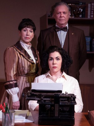 Lois Sonnier Hart and John S. Davies star alongside Emily Scott Banks (seated) in Circle Theatre's creepy new production.