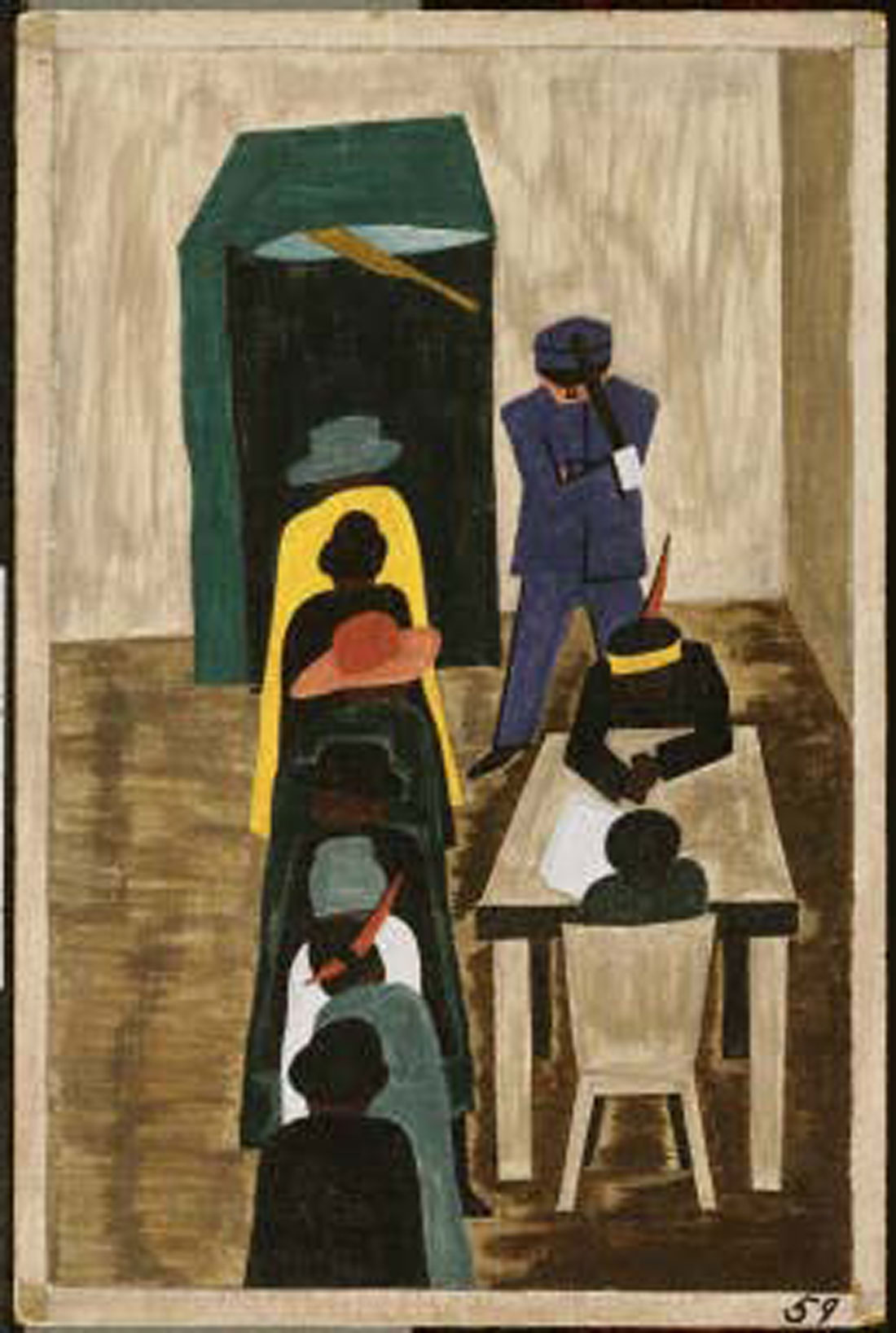 Jacob Lawrence's Panel No. 59 will be the topic of discussion, Tue.