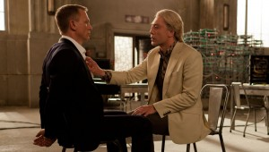 Javier Bardem just wants to feel Daniel Craig's pectoral muscles in Skyfall.