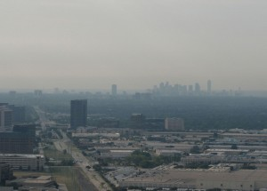 New smog readings for the Metroplex paint a depressing picture. Courtesy Justin Cozart