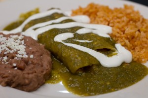Los Paisanos' chicken enchiladas are simple and tasty. Chase Martinez