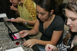 Riverside residents learn cosmetic tips at Studio Bee. Lee Chastain