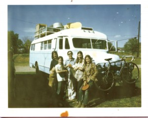 The Brinks lived and traveled for six months in the Blue Goose.
