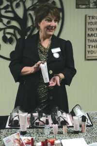 Cardenas is good at getting others excited about Mary Kay products. Lee Chastain